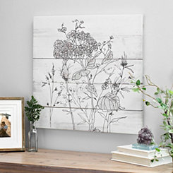 Pen and Ink Florals Canvas Art Print