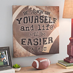 Football Be Tough Canvas Art Print