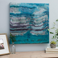 Turquoise Geode Canvas Art Print
