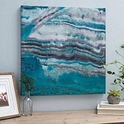 Turquoise Geode II Canvas Art Print