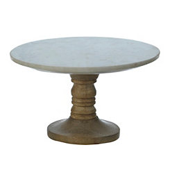 Marble and Mango Wood Cake Stand