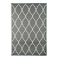 Gray Lattice Outdoor Rug, 4x6