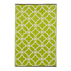 Gate Green Outdoor Rug, 4x6