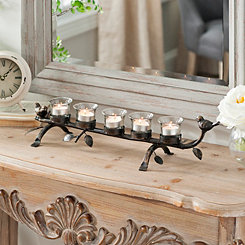 Metal Birds Tealight Candle Runner