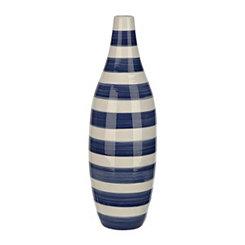 Cobalt Stripe Vase