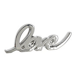Silver Script Love Word Runner