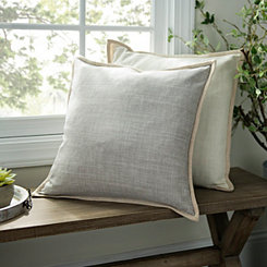 Gray Linen Pillow