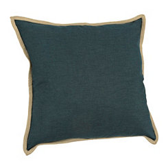 Deep Teal Tan Trim Pillow