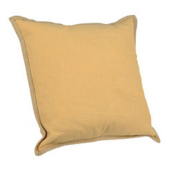 Yellow Tan Trim Pillow