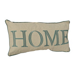 Teal Home Pillow