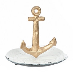 Gold Anchor Jewelry Holder