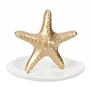 Gold Starfish Jewelry Holder