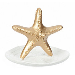 Gold Starfish Jewelry Holder