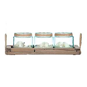 Coastal Sand and Shells Candle Runner