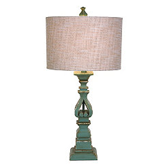 Turquoise Cutout Table Lamp