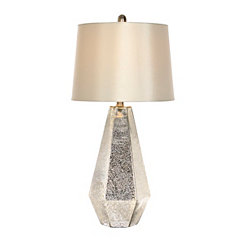 Silver Zeller Mercury Glass Table Lamp