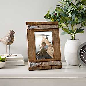 Door Hinge Wooden Picture Frame, 5x7
