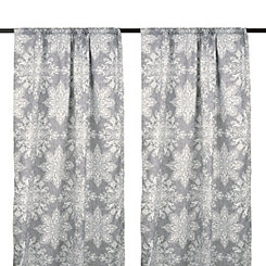 Gray Ria Medallion Curtain Panel Set, 84 in.