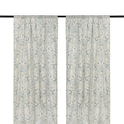 Blue Anaya Paisley Curtain Panel Set, 84 in.