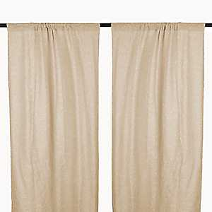 Cleo Natural Dot Curtain Panel Set, 84 in.