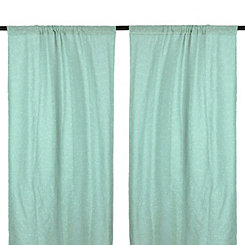 Cleo Aqua Dot Curtain Panel Set, 84 in.