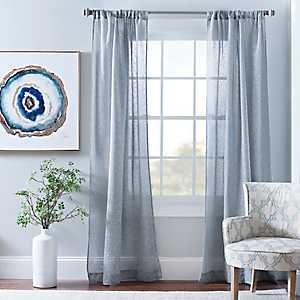 Cleo Gray Dot Curtain Panel Set, 84 in.