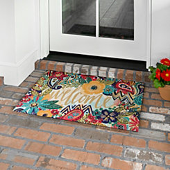 Eclectic Garden Welcome Mat