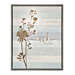 Be Still Framed Canvas Art Print