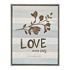 Love Never Fails Framed Canvas Art Print