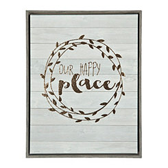 Our Happy Place Framed Canvas Art Print