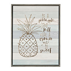 Be a Pineapple Framed Canvas Art Print