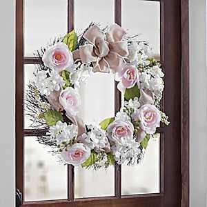Soft Pink Rose Mix Wreath