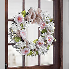 Soft Pink Rose Mix Wreath