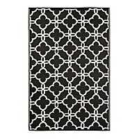 Gate Black Outdoor Rug, 4x6