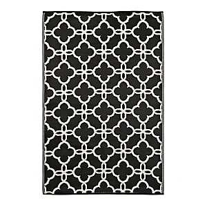 Gate Black Outdoor Rug, 4x6