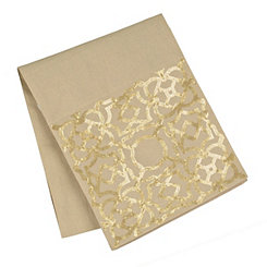 Geometric Gold Sequins Table Runner