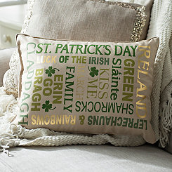 St. Patrick's Day Typography Pillow