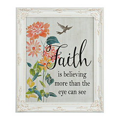 Floral Faith Framed Art Print