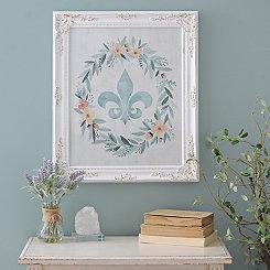 Fleur-de-Lis Wreath Framed Art Print