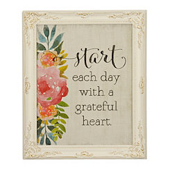 Grateful Heart Framed Art Print