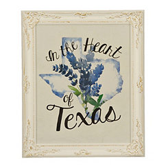 Heart of Texas Framed Art Print