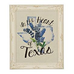 Heart of Texas Framed Art Print