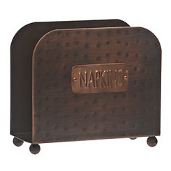 Bronze Hammered Tin Napkin Holder