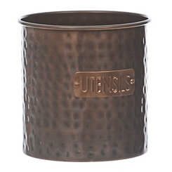 Bronze Hammered Tin Utensil Holder