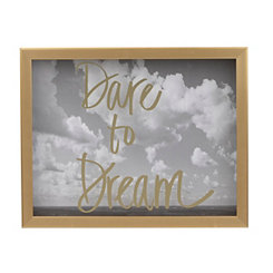Gold Dare to Dream Shadowbox