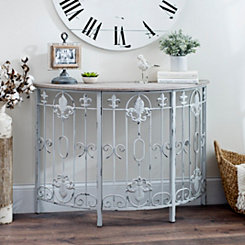 Collette Fleur-de-Lis Console Table