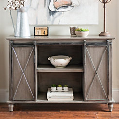Gray Mackenzie Sliding Door Cabinet