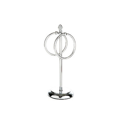 Chrome Finial Ring Towel Holder