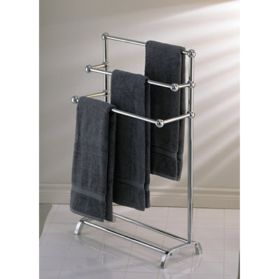 Chrome Deluxe 3-Tier Towel Valet