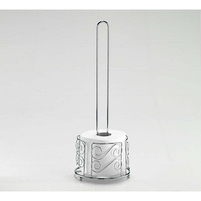 Chrome Swirl Toilet Paper Holder